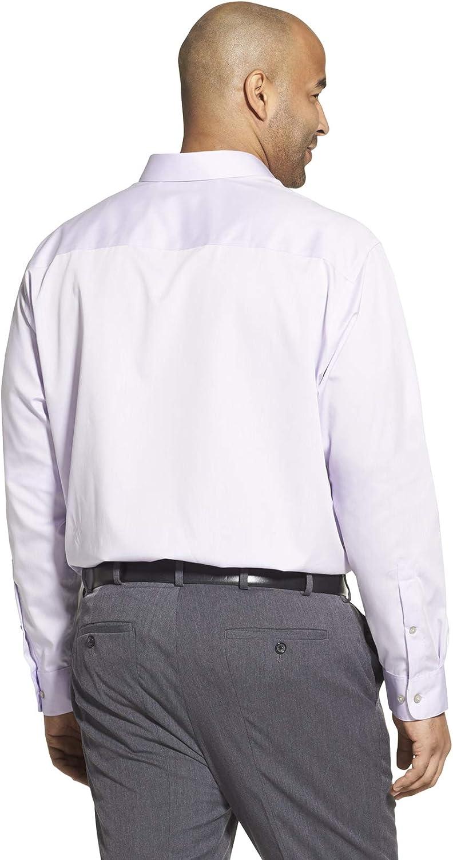 Calvin Klein Mens Big and Tall Dress Shirts Non Iron Herringbone Solid Dress Shirt Lilac