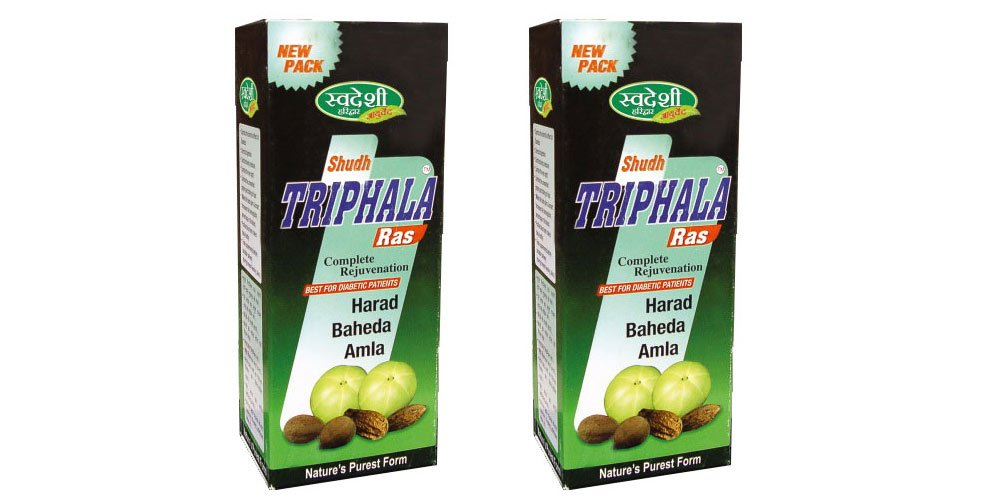 Pack of 2 - Swadeshi Shudh Triphala Ras - Complete Rejuvenation - 500ml
