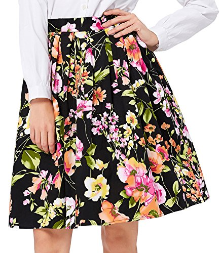(Floral Pleated Skirt 50's Retro Bubble Style Size S)