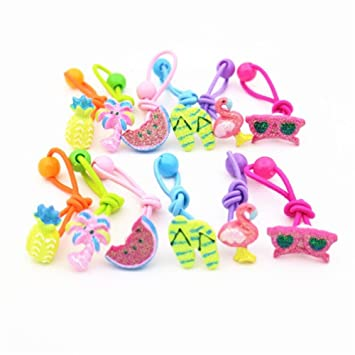 Amazon.com   Cute Cartoon Toddlers Girls Elastic Hair Ties Little Girls  Ponytail Holder Hair Accessories (Set of 12)   Beauty 26b44e3be9b