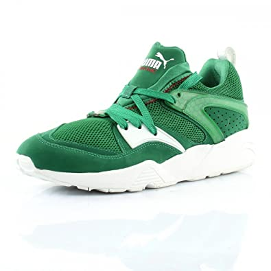 53e5aaf8ad1a Puma Trinomic Blaze of Glory Mens Suede Trainers - Green  Amazon.co ...