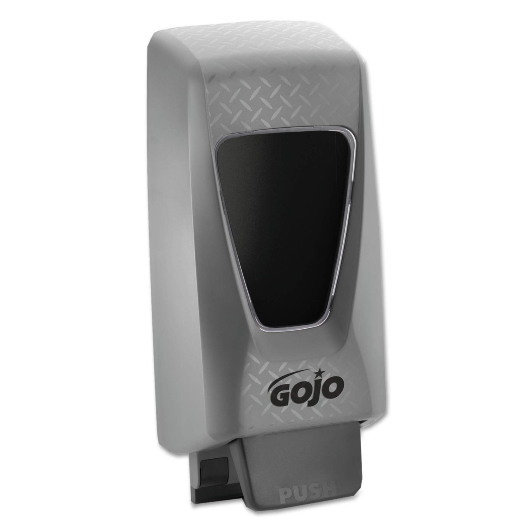 GOJO PRO TDX 2000 Push-Style Hand Soap Dispenser, Grey, Dispenser for GOJO 2000 mL Heavy Duty Soap Refills - 7200-01