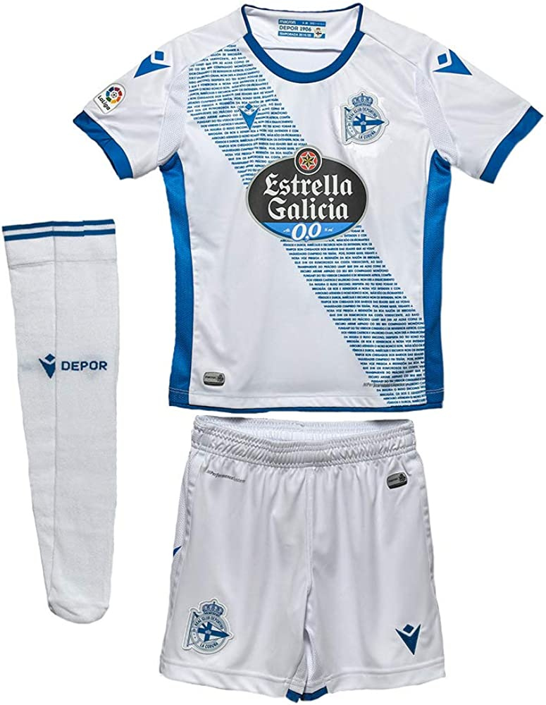 RC Deportivo Kit Infantil 3ª Equipación 2019/20 Camiseta Niños