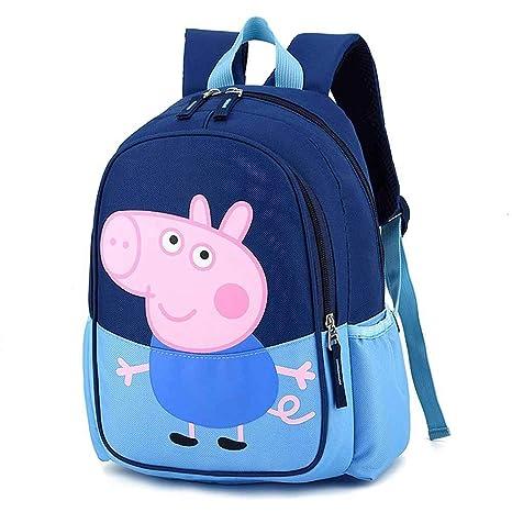 Erhu Childrenbackpack Mochila Peppa Pig George Mochila De Dibujos Animados Resistente Al Agua Mochila Escolar Para Niños Niñas Y Niños