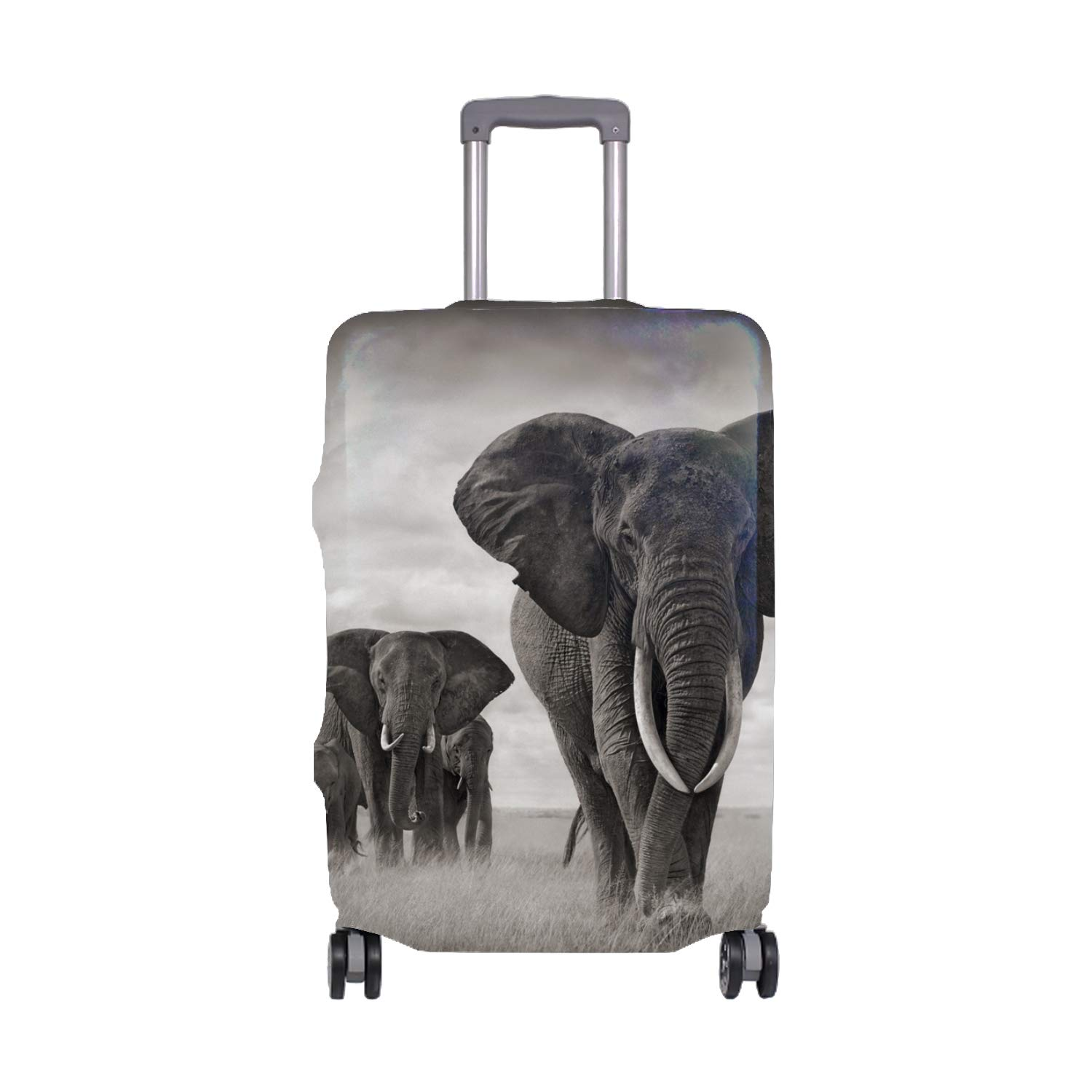 Cool Cat Creative Color Printed Luggage Cover Spandex Travel Suitcase Protective Cover