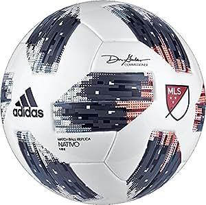 adidas Performance MLS Glider Mini Soccer Ball, White, Size 1