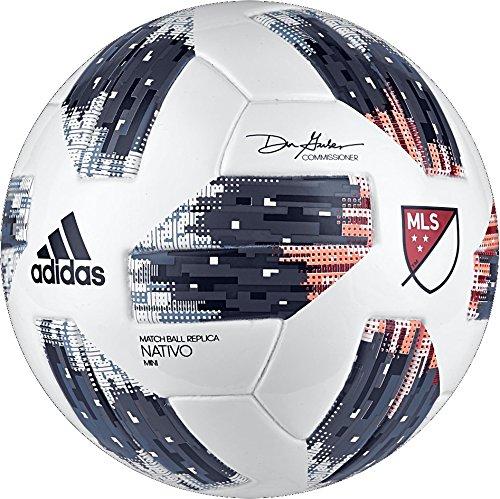 adidas MLS Glider Mini Soccer Ball, White, Size 1