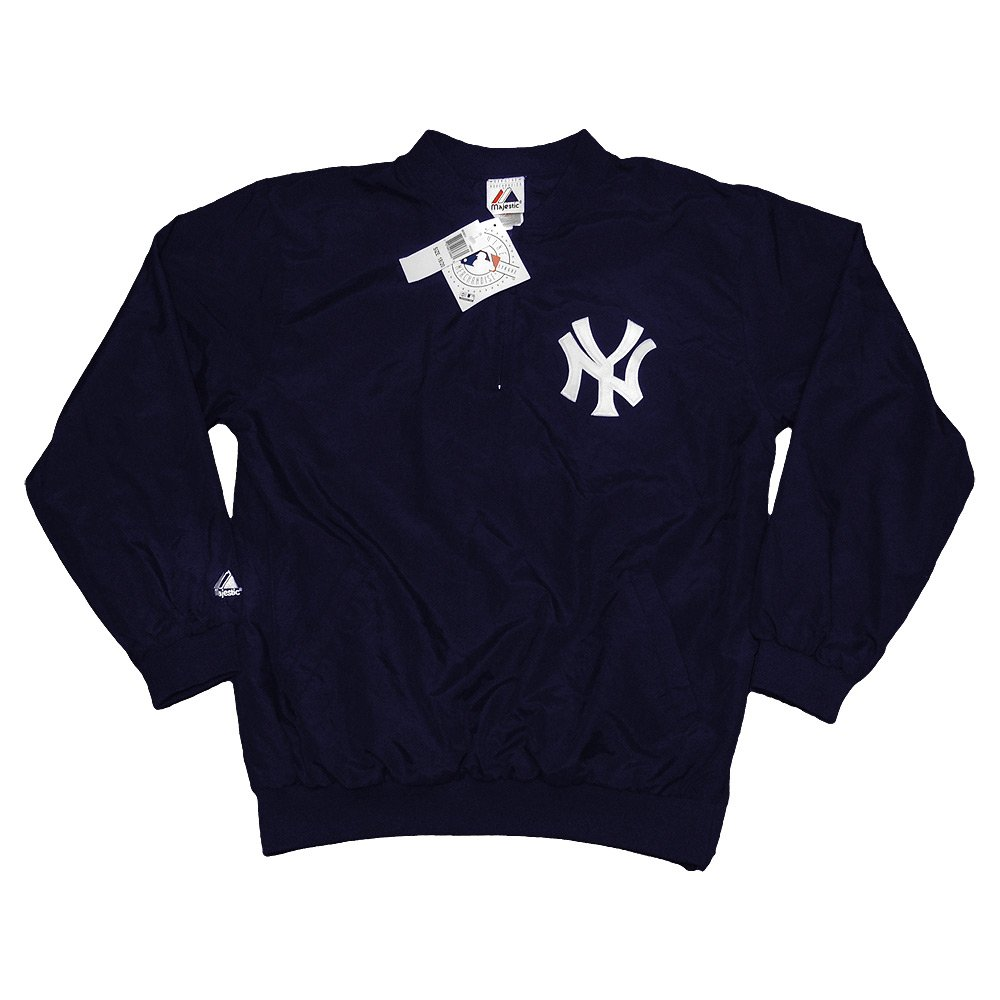 New York Yankees cortavientos con forro azul oscuro chaqueta ...