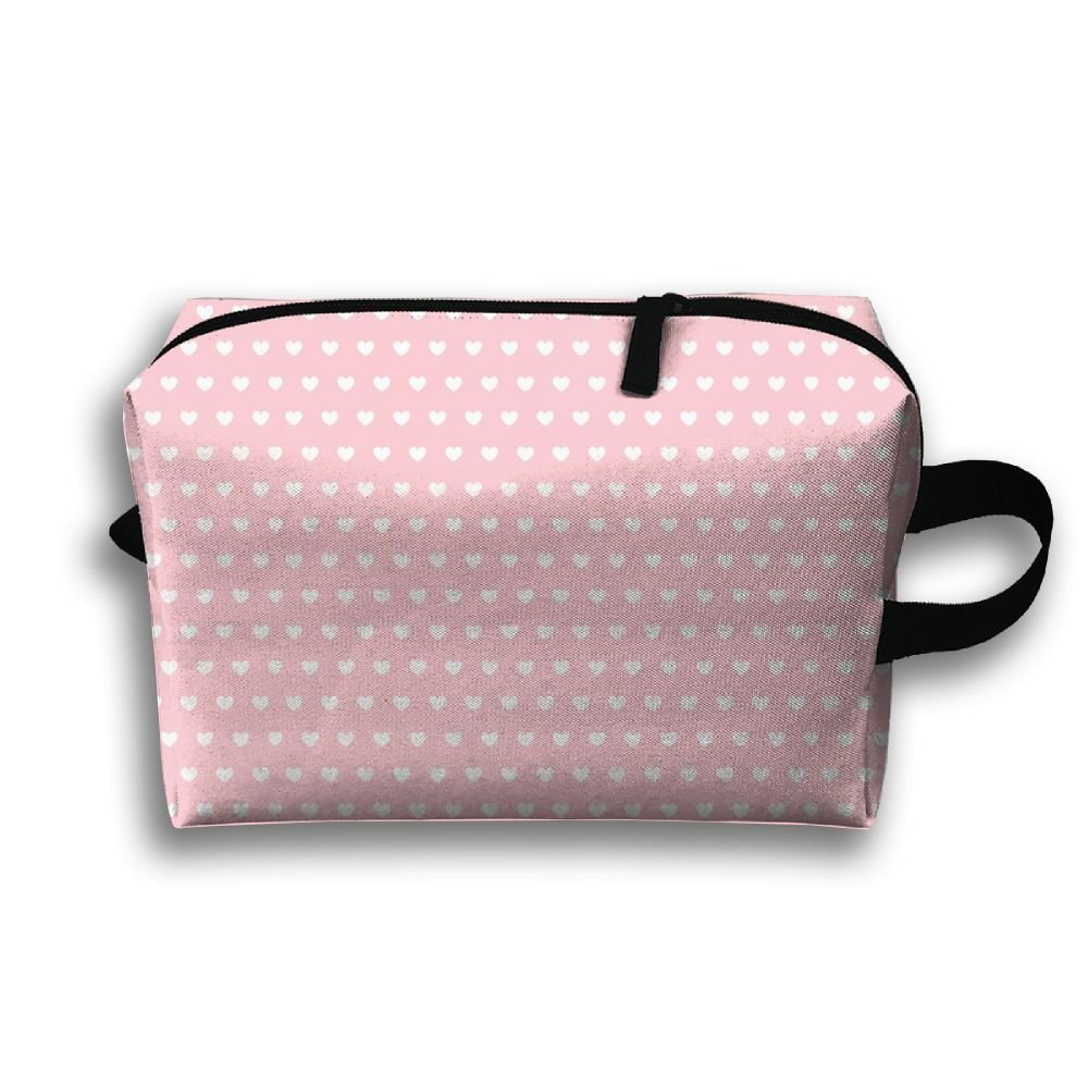 Pink Love Small Travel Toiletry Bag Super Light Toiletry Organizer For Overnight Trip Bag