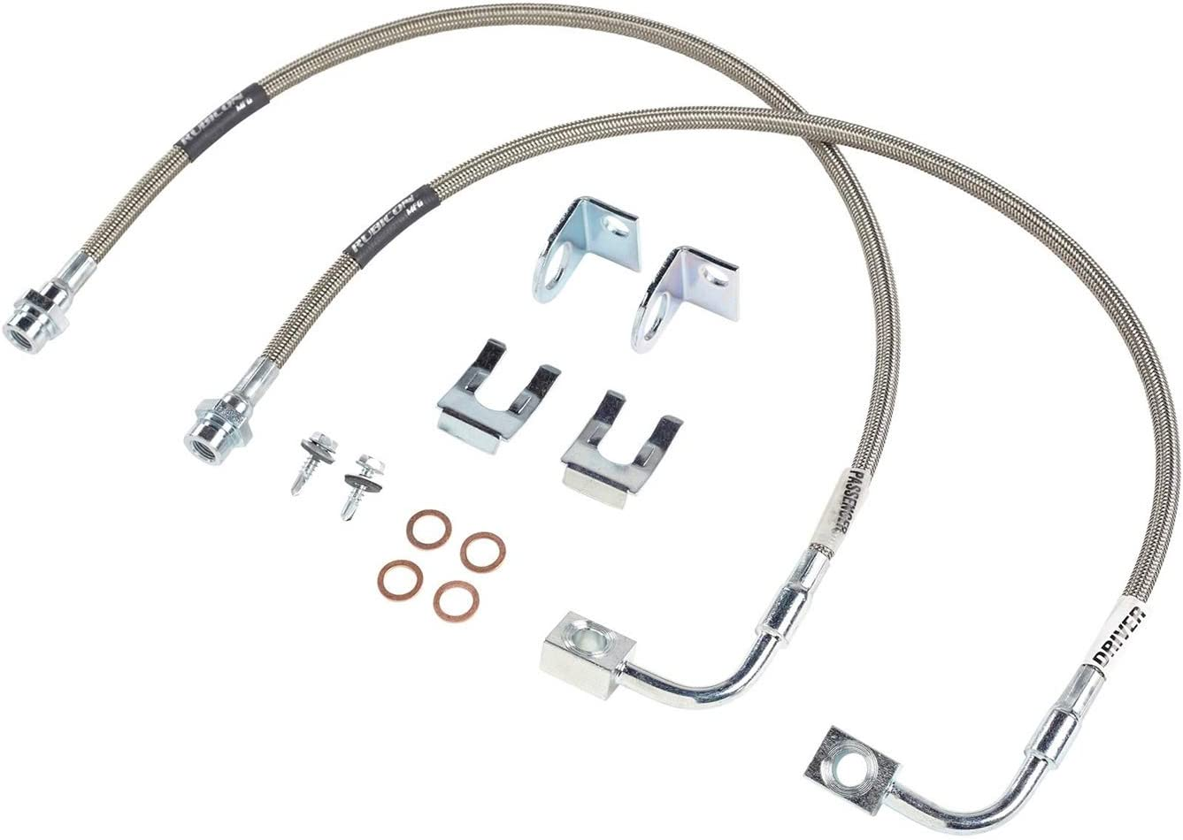 Rubicon Express RE1552 Front Stainless Steel Brake Line Set