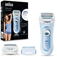 Braun Silk-Epil Lady Shaver 5160 – Wet & Dry, Cordless use with Battery + 3 Attachments