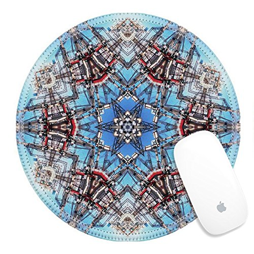 Luxlady Round Gaming Mousepad Abstract six final star with patterns Illustration IMAGE ID 2824800