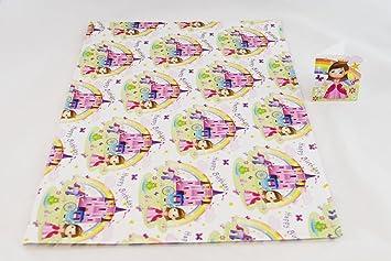 Happy Birthday Princess Geschenkpapier Madchen 2 Blatt Etikett Kid Fur Ihre