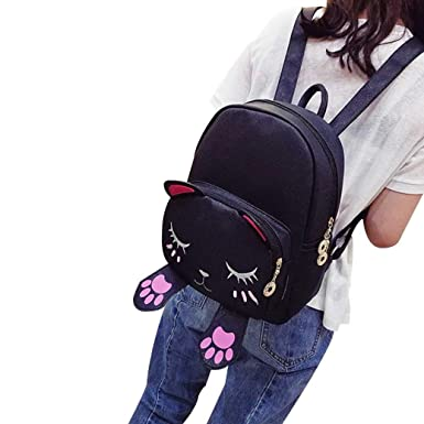 Amazon Com Rained Casual Cute Cat Backpack School Women Backpacks