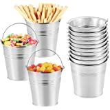 Toyvian Metal Buckets Mini Tinplate Bucket,4 Inch Metallic Pails with Handle for Party Favors, Candy, Votive Candles…