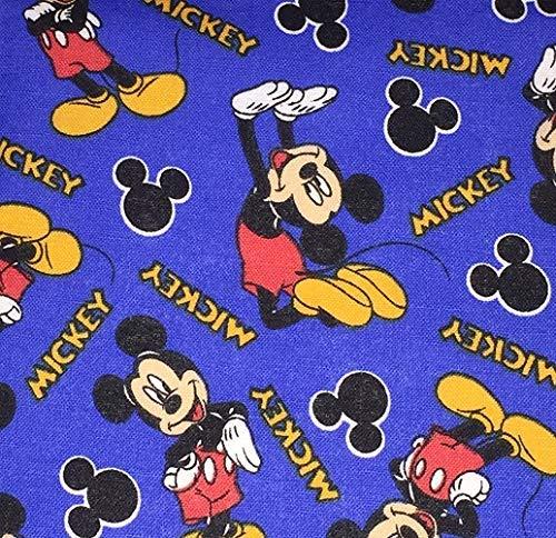 X-Small Mickey on Blue Dog Bandana