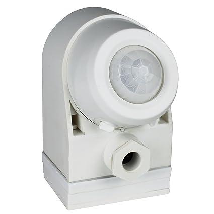AS-Schwabe 43811 - Sensor de movimiento por infrarrojos (360º), color blanco