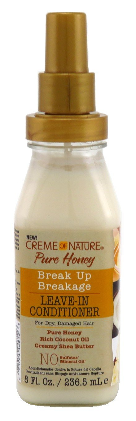 Creme Of Nature Pure Honey Leave-In Conditioner 8 Ounce Pump (236ml) (6 Pack)