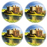 MSD Round Coasters Non-Slip Natural Rubber Desk Coasters design 15339528 Famous Castle near Leeds in Kent painted on the canvas by me Kiril Stanchev