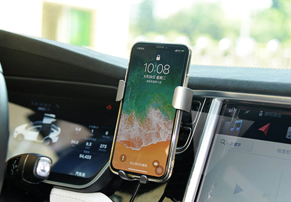 Standard Charge for iPhone X i8 i8Plus and Qi Enabled Devices Car Wireless Charger Air Vent Mount Phone Holder Phone Stand,10W Charge for Samsung Galaxy S8 S7//S7 Edge,Note 8 Note 5