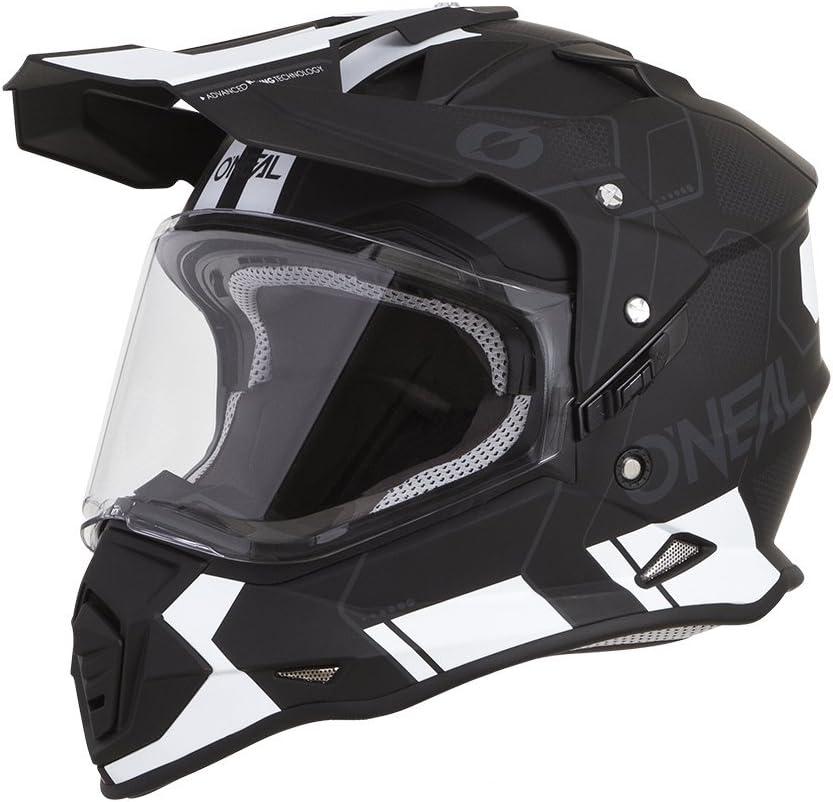 Gr/ö/ße M ONeal Sierra Flat Adventure Enduro MX Motorrad Helm wei/ß 2020 Oneal 57-58cm