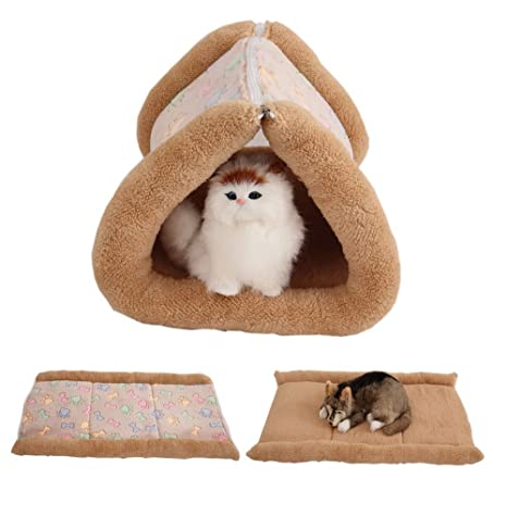 Pet Online Casa para gatos otoño e invierno gruesa de canal caliente multi-función mat
