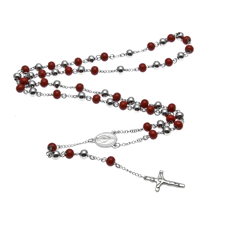 ce02b9b370e1 Beydodo Colgante Collar Chapado en Plata Hombre Collar de Hombre Collar  Cruz Collar Cadena Bolas Collar