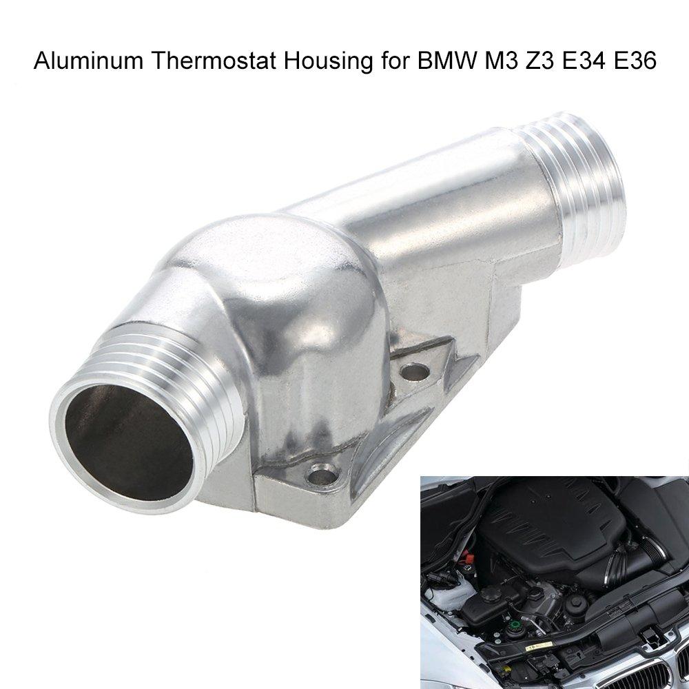 KKmoon Copertura dell'alloggiamento Termostato in Alluminio con Guarnizione per M3 Z3 E34 E36