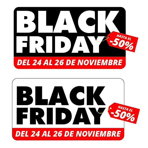 Pack de Vinilo reposicionable de dos Adhesivos Black Friday ...