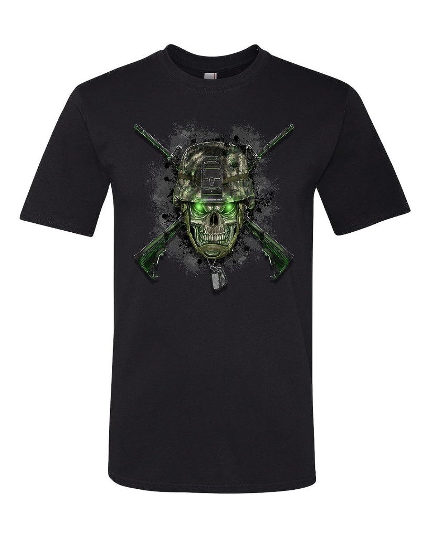 TeeWorlds Army Skull Legend - Army Dog Tags Unisex T-Shirt