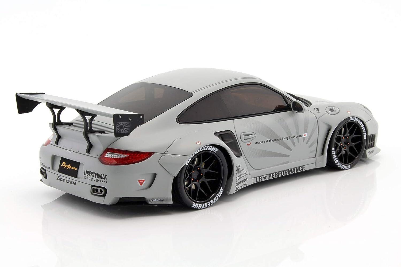 Gt Spirit gt126 Porsche 997 Turbo - LB Performance - Escala 1/18 - Gris: Amazon.es: Juguetes y juegos