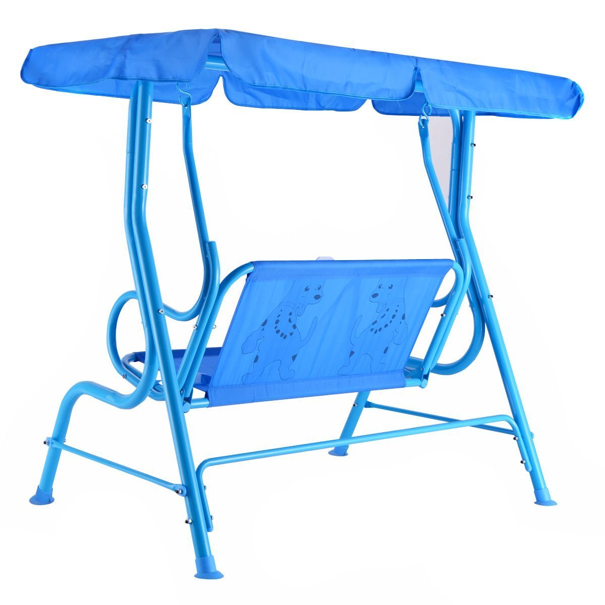 Costzon Kids Porch Swing 2 Person Patio Seat With Canopy