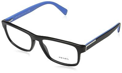 b35db7f81093 Prada PR07PV Eyeglass Frames 1BO1O1-5617 - Matte Black PR07PV-1BO1O1-56