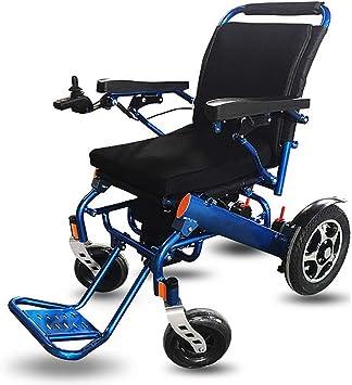 KY Sillas de ruedas eléctricas Silla de ruedas eléctrica, silla de ruedas para discapacitados silla de ruedas eléctrica para ancianos silla de ruedas eléctrica ligera de aleación de aluminio plegable: Amazon.es: Salud