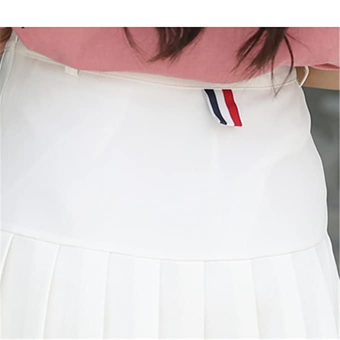 1fc225383c Amazon.com: High Waist Short Pleated Skirt Women Mini Sexy Pink Summer  Skirts Womens Leggings Female kawaii Sun Skirt: Clothing