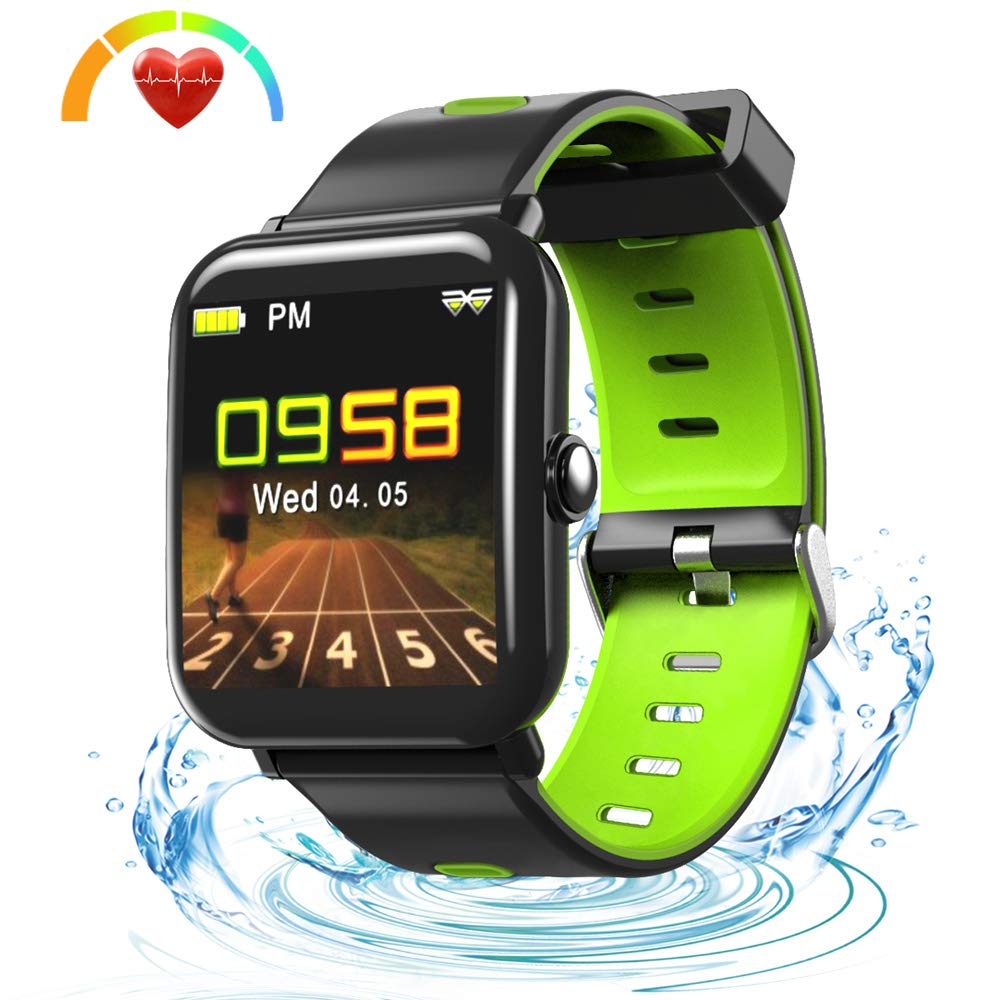 LUXSURE Fitness Armband Smart Trackers IP68 Wasserdicht Fitnessarmband Aktivitä tstracker fü r IOS Android Handy Schwarz LU00000085-3