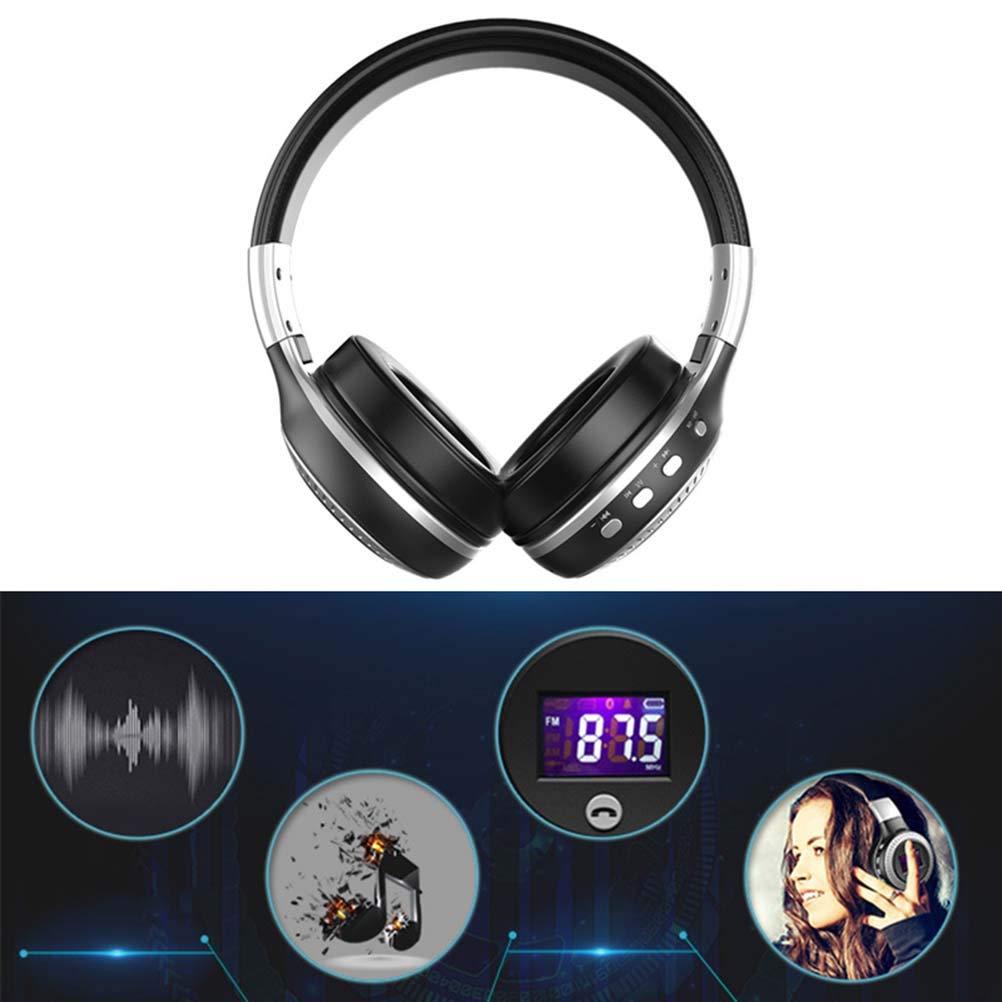 Healifty Auriculares de Diadema Bluetooth Inalámbricos con Micrófono Manos Libres y Sonido Estéreo para PC Móvil (Negro): Amazon.es: Electrónica