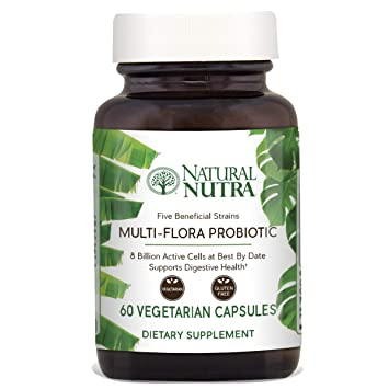Natural Nutra Ultimate Flora Probiotic for Women and Men, Multi Strain with Lactobacillus Acidophilus,