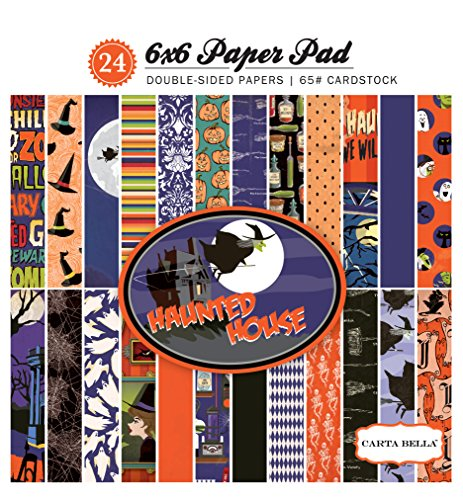 Carta Bella Paper Company Haunted House 6x6 Paper - Paper Haunted House