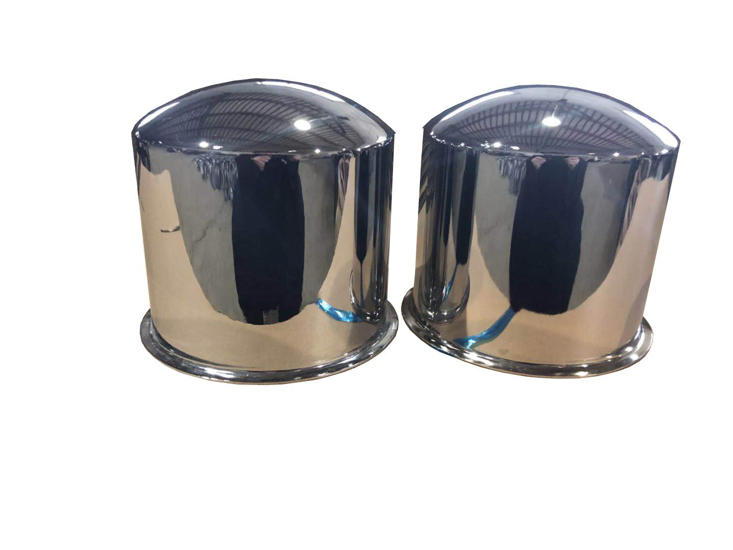 ZXLY ONE Set of 4pcs Chrome Metal Axle Covers for 8 x 6.5(165.1mm) by ZXLY (Image #1)