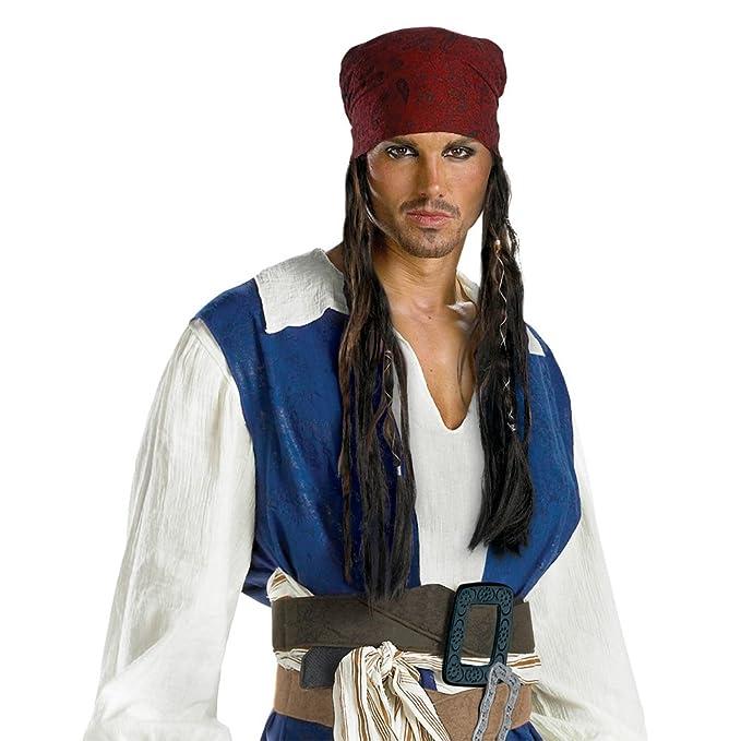 Disfraz Jack Sparrow 18767 Diadema con pelo - adultos: Amazon.es ...