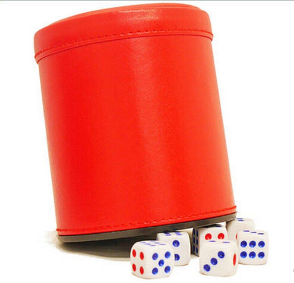 素晴らしい品質 PU Leather Dice Dices Cup Set Cup with 6 of Dot Dices (Red, Pack of 1) B01LAT106W, ミカツキチョウ:0d5e5ebd --- arianechie.dominiotemporario.com