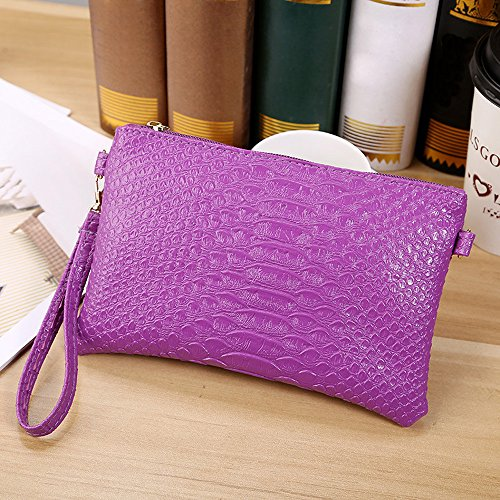Small Clearance Shoulder Fashion ~B Tote Handbag Purple Crocodile Purse Bag ZOMUSA Ladies Pattern Women gn8Cn4wq