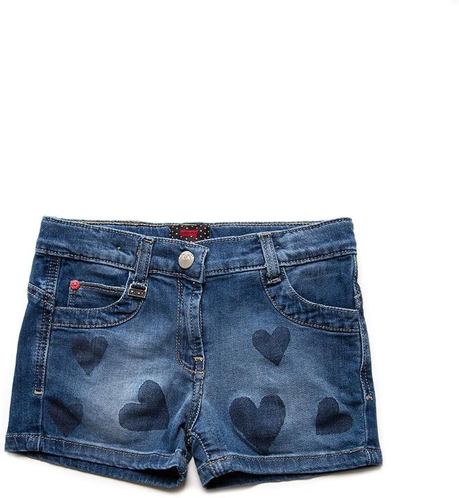 Tessuto Elasticizzato Short per Bambina Carrera Jeans Modello con Stampa