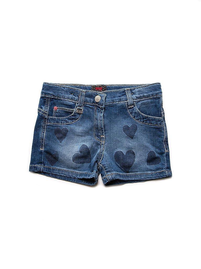 Carrera Jeans - Shorts 757 per bambina, modello con stampa, tessuto elasticizzato, vestibilità slim, vita regular