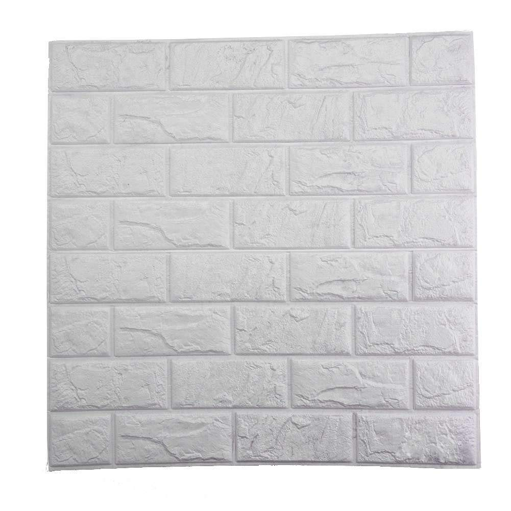 PrecisionDecor 3D Brick Wall Stickers Panel Self-Adhesive Peel and Stick White Faux Brick for Wall Decor 23.6''x23.6''(10 PC) by PrecisionDecor (Image #4)