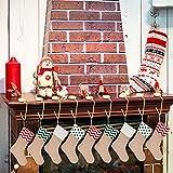 Sunshane 9 Pieces Christmas Stocking Holders Mantel