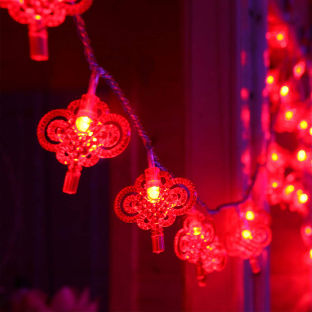 BGFHDSD AC 220V LED Lighting String Chinese Knot Lights Garland Chandelier New Year Fairy Wedding Christmas Supplies Decor. Nudo UK Plug