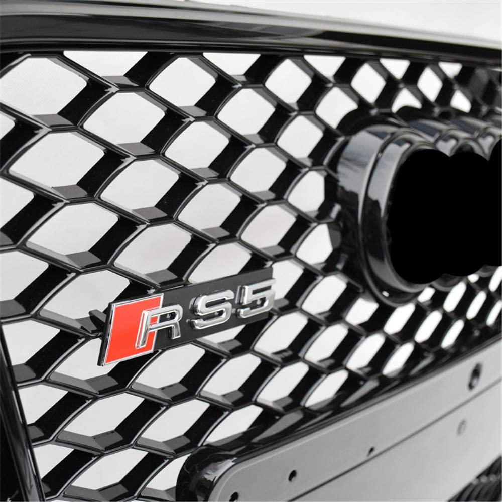 Xinshuo Rejilla del radiador del frente del acoplamiento del tipo del panal del ABS para RS5 Style A5 S5 2008-2011