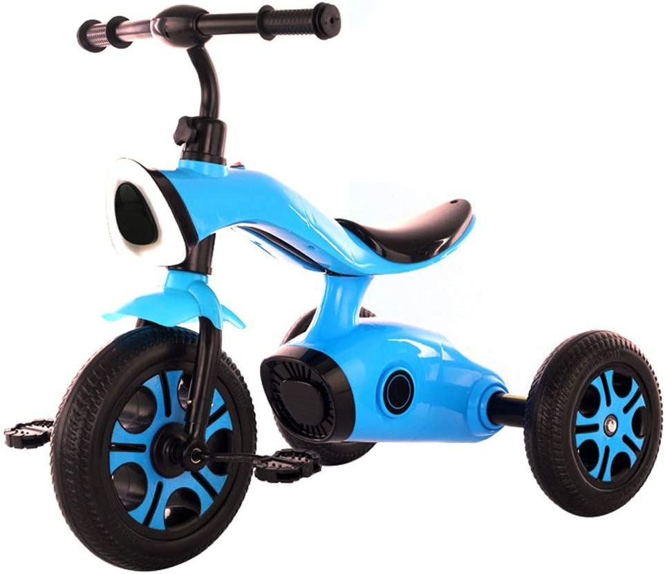 Triciclos Triciclo Infantil Trike Toddler Bike Strollers Para Niños Smart Trike Desmontable Antideslizante Rueda Delantera Pedal De Pie Trike Con Barra De Empuje De Padres 2 Colores ( Color : Blue )